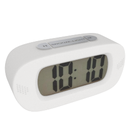 Lucas Table Clock, White