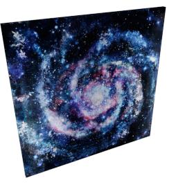 Galaxy Painting - 100x2.8x100 cms