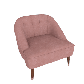 Margot Accent Chair, Old Rose Velvet