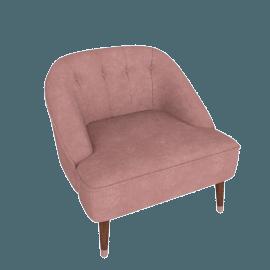 Margot Accent Chair, Old Rose Velvet