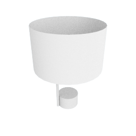 Pleat Drum Table Lamp, Light Grey