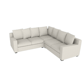Muse Corner Sectional (Fabric B) - Natural