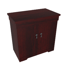 Hostess Trolley, HL6240, Curl Mahogany