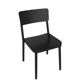 Lisboa Side Chair - Black