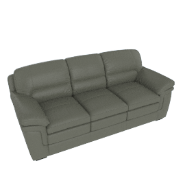 Taylor 3-Seater Sofa with Splayed Arms, Grey