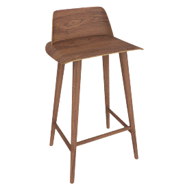 Nerd Counter Stool, Walnut