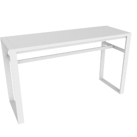 Eos Rectangular Bar Table, White