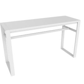 Eos Rectangular Bar Table, White