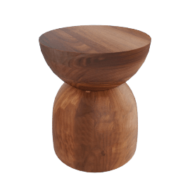 Hew Side Table, Shape B, Walnut