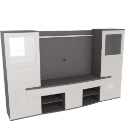 Orazio wall Unit New, HG Cream/Grey