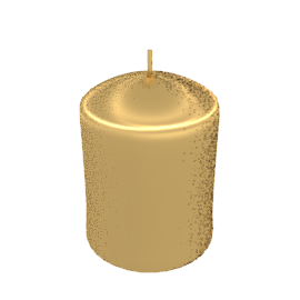 Pillar Candle, Metallic Gold