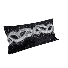 Majestic Filled Cushion - 30x70 cms, Black