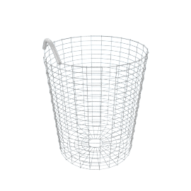 Korbo Handmade Wire Basket, Bin 18, Stainless Steel