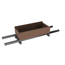 """Container Flat Rack 23.2"""" with Box"""