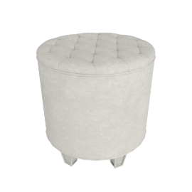 Mono Suzani Storage Stool with Lid