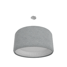 Luceplan Silenzio Sospensione D90, light grey
