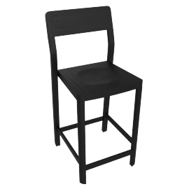 Note Counter Stool, Black