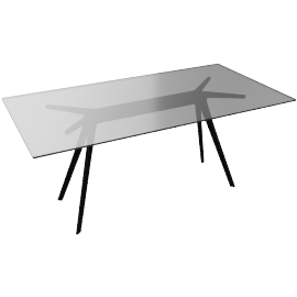 "Baguette Table 62"", black"