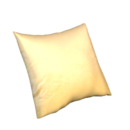 Silk Cushion, Pale Gold