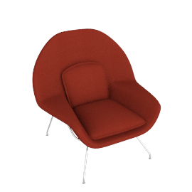 Womb™ Chair - Classic Boucle - Crimson