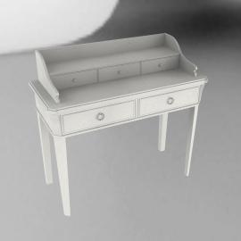 Louisa Dressing Table, Soft White