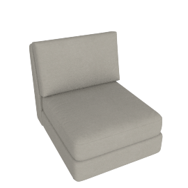 Eterno 1 Seater Armless, Caramel