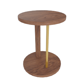 Spot Stool, Walnut