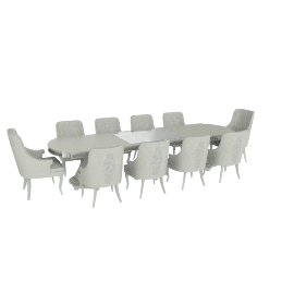 Suzani 11-Piece Dining Table Set