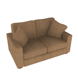 Gino Small Sofa, Bronze