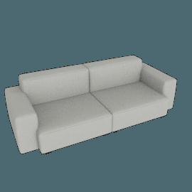Mags Soft Low 2.5 - Seater Sofa, Linara - Fog