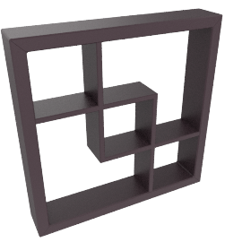 Madison Display Shelf, Satin Blk