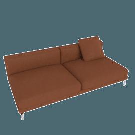 Como Armless Sofa, Canyon