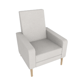Flight Recliner, Soft Weave Fabric Sesame/Oak Base