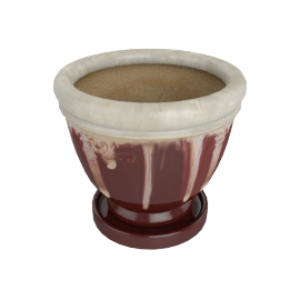 Sarith Planter and Saucer 15x15 cms