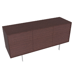 Sussex Credenza Three with Drawers - Wenge