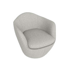 Lina Swivel Chair, Noble fabric - Heathered Rye Grass