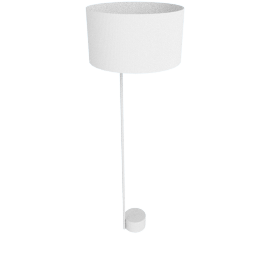 Pleat Drum Floor Lamp, Light Grey