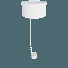 Pleat Drum Floor Lamp, Light Grey