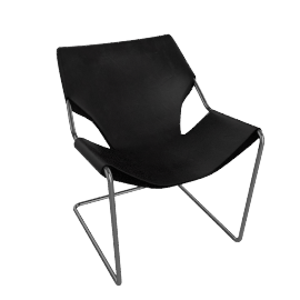 Paulistano Armchair in Canvas - Charcoal.Black