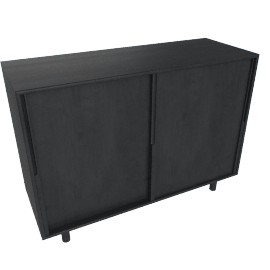 Edel Console, Ebonized Oak