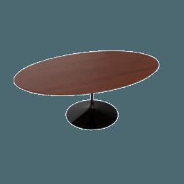 Saarinen Low Oval Coffee Table - Veneer - Black.Cherry