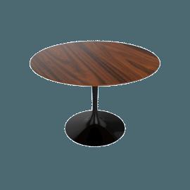 Saarinen Round Dining Table 42'', Rosewood - Black.Rosewood