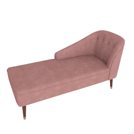Margot LHF Chaise, Old Rose Velvet
