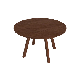 Forte Table Round, Wood Top