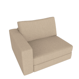 Reid One-Arm Chair Left, Lama Tweed - Oatmeal
