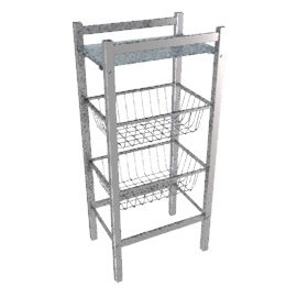 Bathroom Multi-Rack, 3 tier
