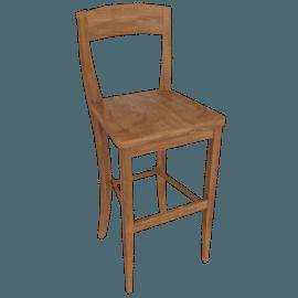 Piran Bar Chair, Chestnut Stain