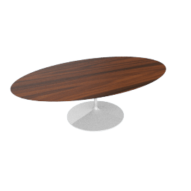 Saarinen Oval Dining Table 96'',Rosewood - White.Rosewood