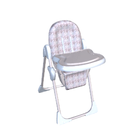 Retro Squares High Chair