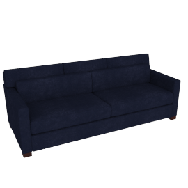 Vesper King Sleeper Sofa, Lama Tweed Fabric, Indigo